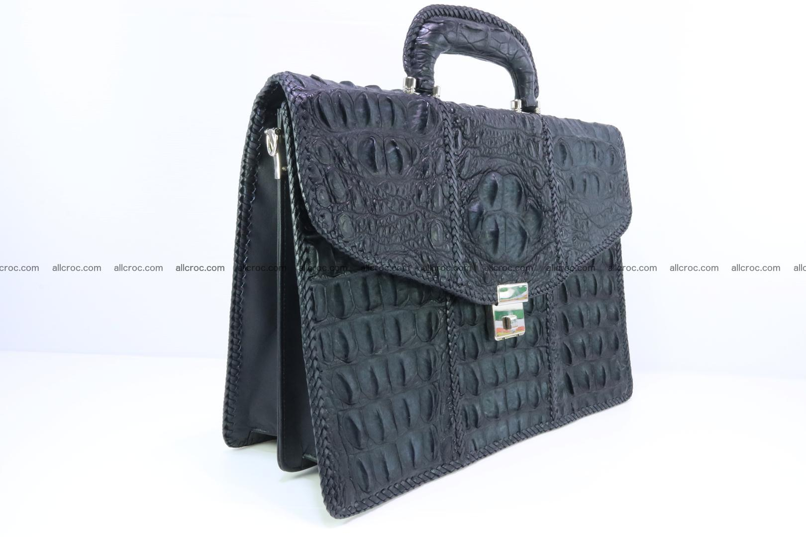 Hand braided crocodile skin briefcase 150 Foto 2