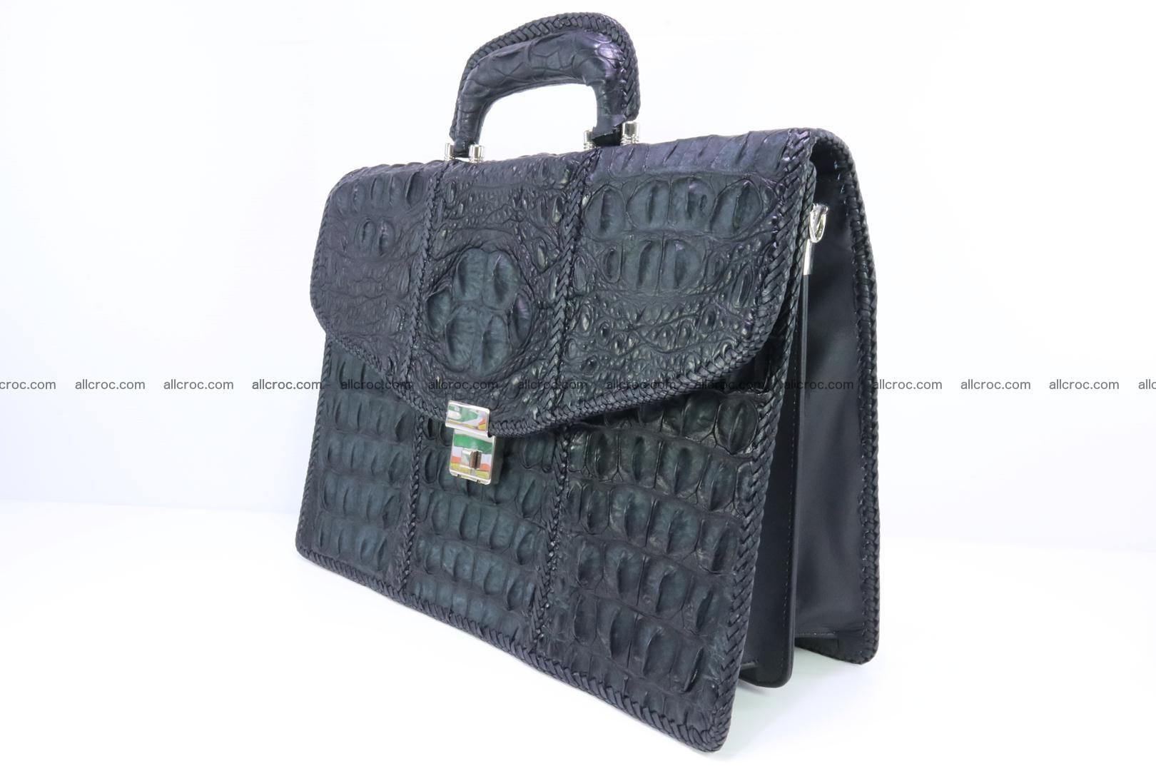 Hand braided crocodile skin briefcase 150 Foto 3