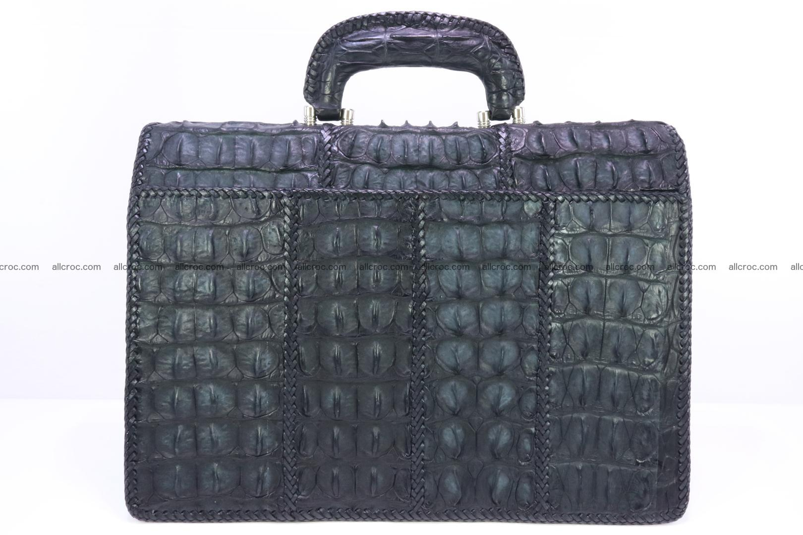Hand braided crocodile skin briefcase 150 Foto 1