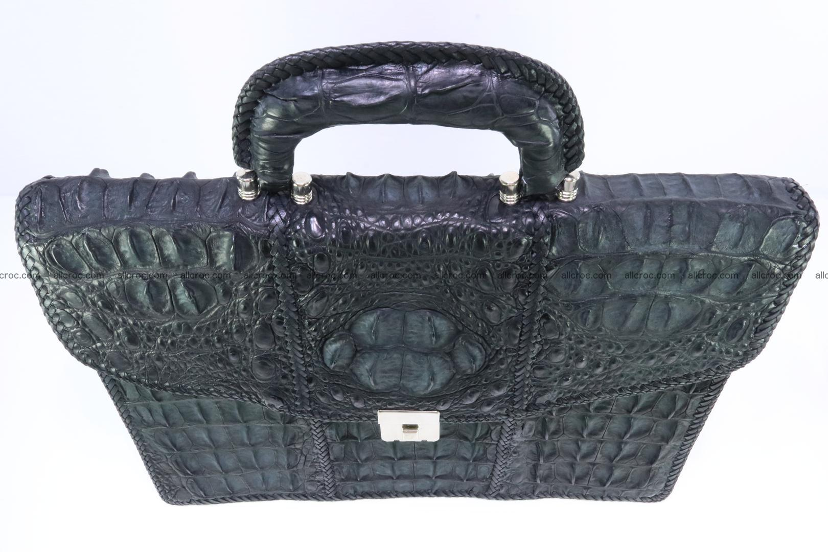 Hand braided crocodile skin briefcase 150 Foto 5