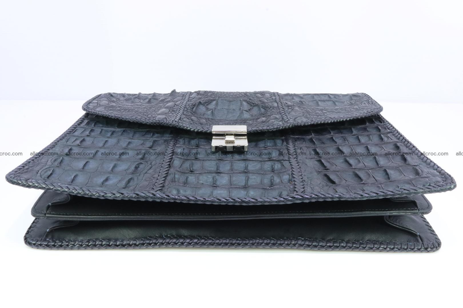 Hand braided crocodile skin briefcase 150 Foto 4