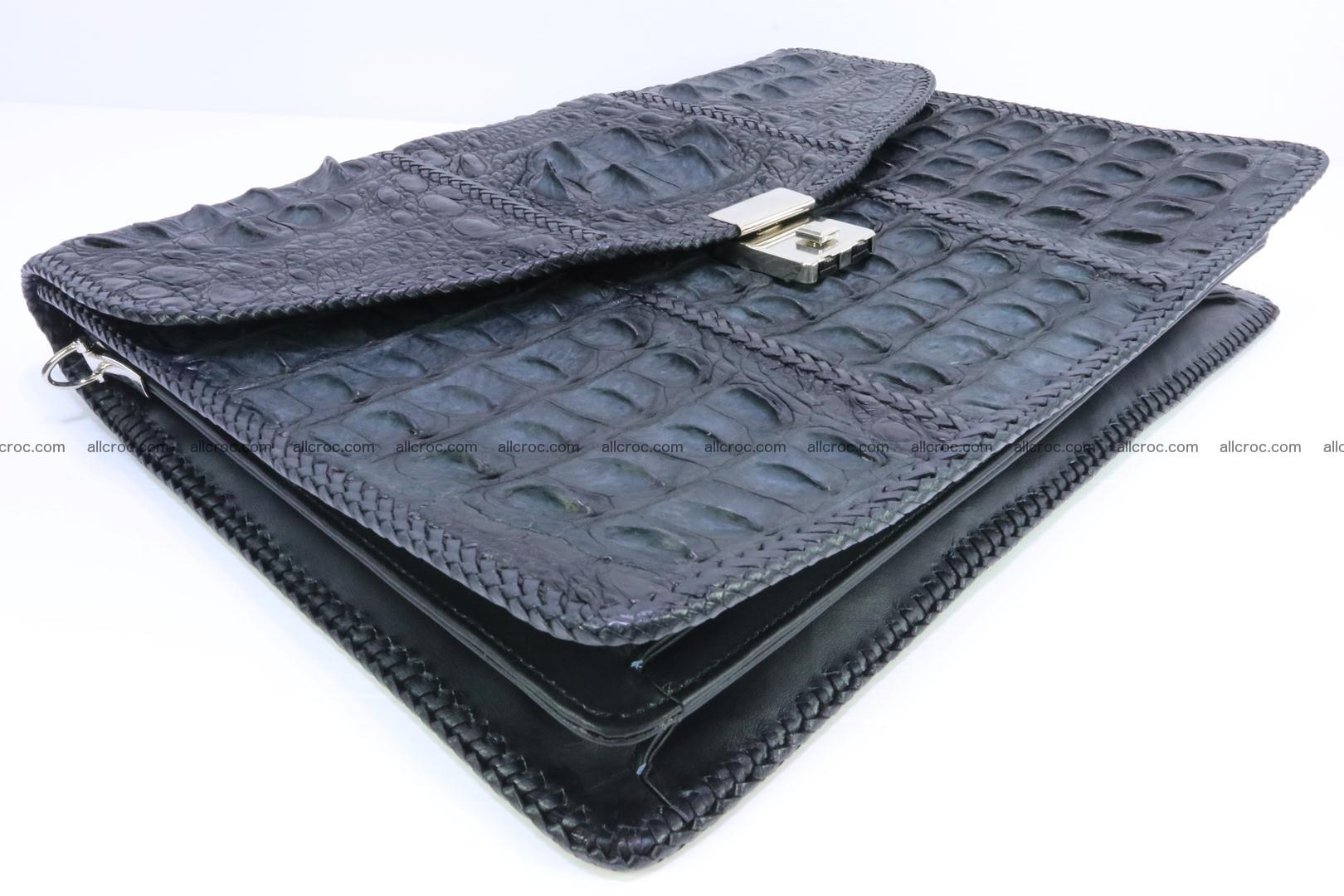 Hand braided crocodile skin briefcase 150 Foto 8