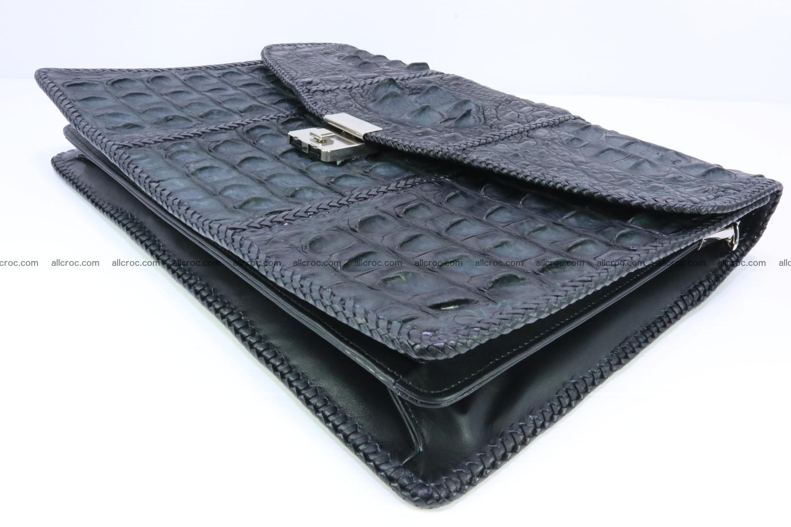 Hand braided crocodile skin briefcase 150 Foto 9