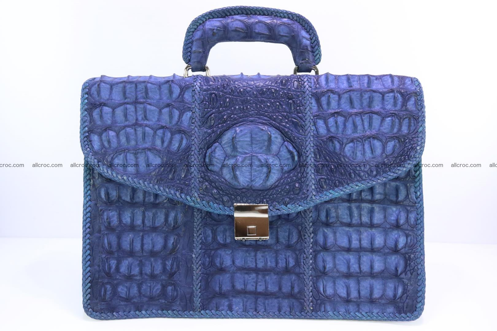 Hand braided crocodile skin briefcase 148 Foto 0