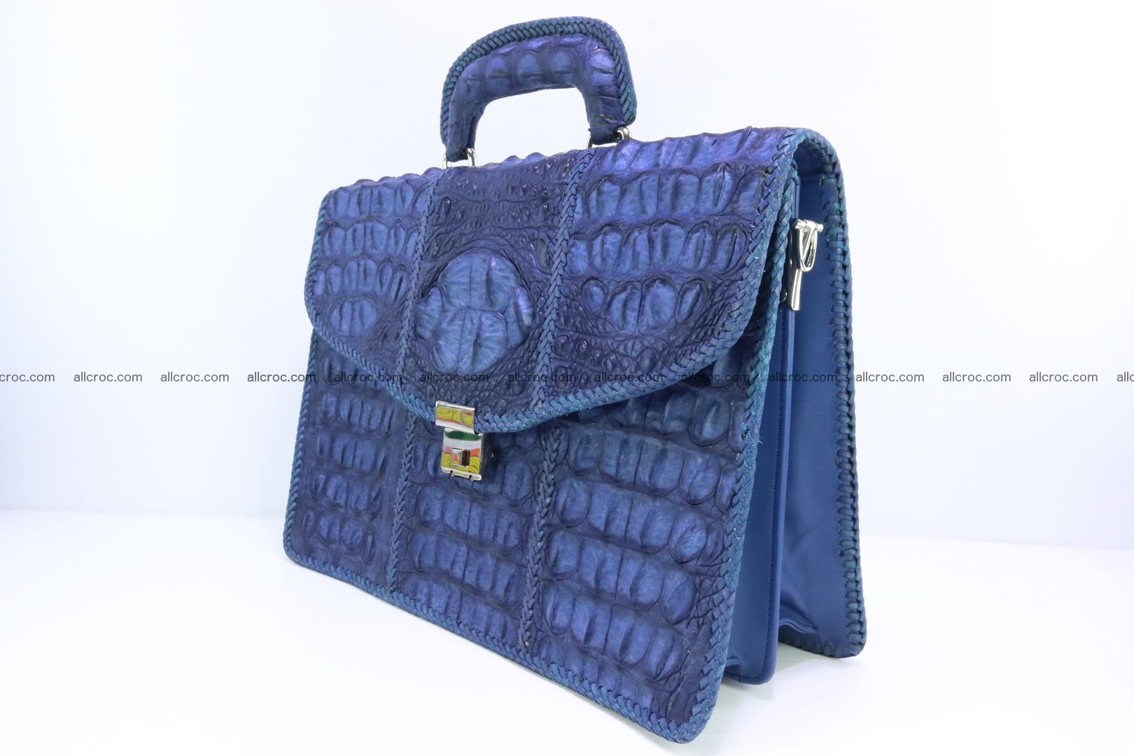 Hand braided crocodile skin briefcase 148 Foto 2