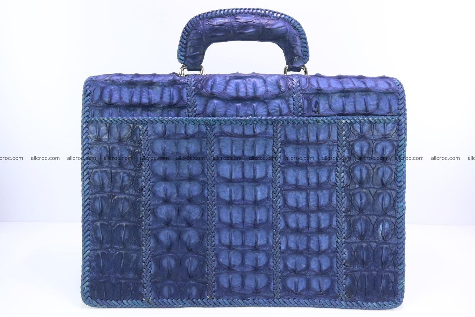 Hand braided crocodile skin briefcase 148 Foto 4