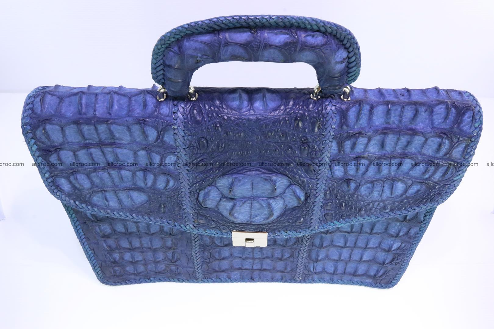 Hand braided crocodile skin briefcase 148 Foto 5