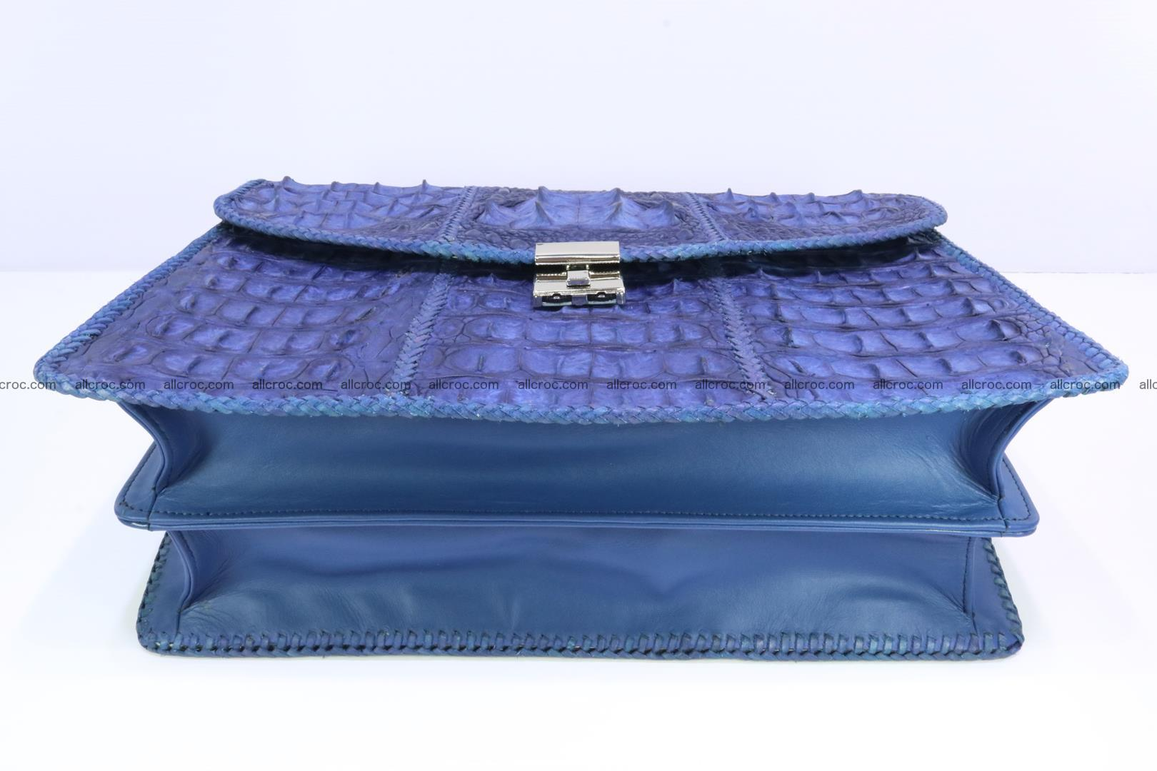 Hand braided crocodile skin briefcase 148 Foto 12
