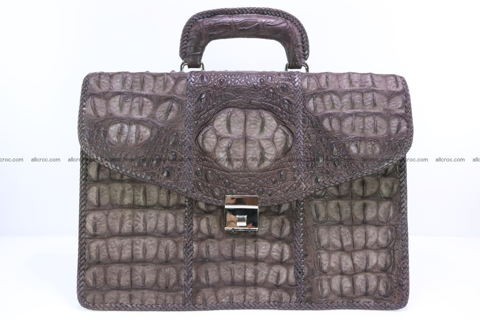 Hand braided crocodile skin briefcase 149 Foto 0