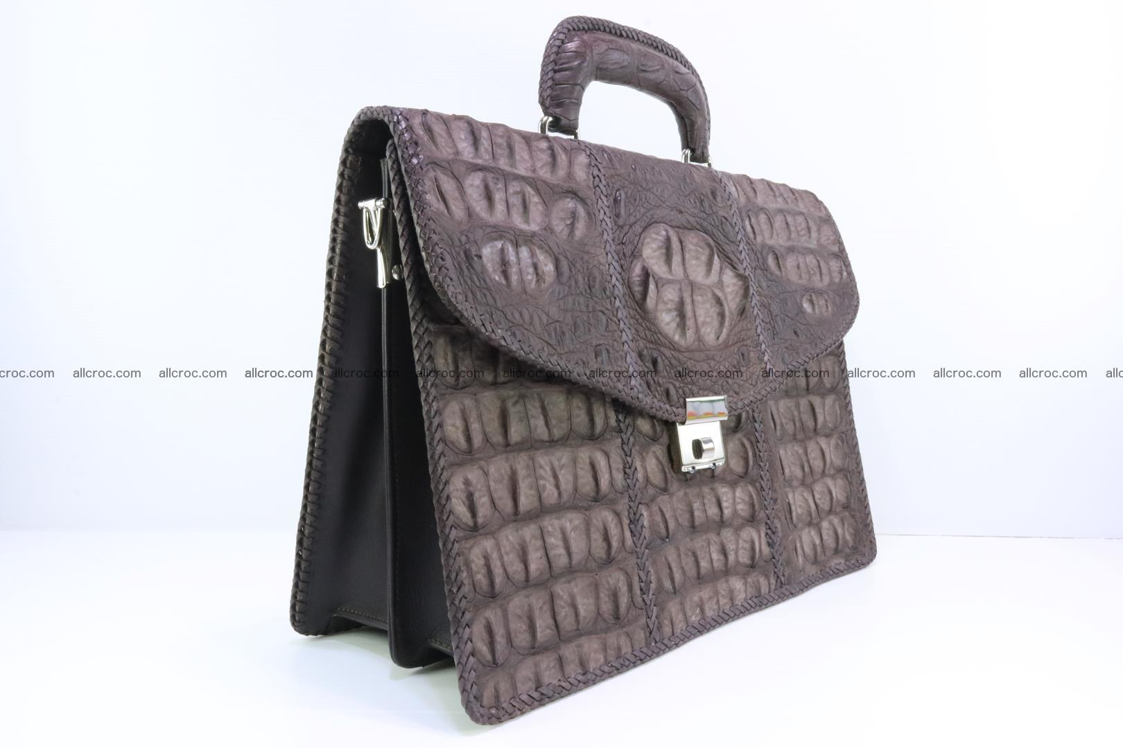 Hand braided crocodile skin briefcase 149 Foto 2