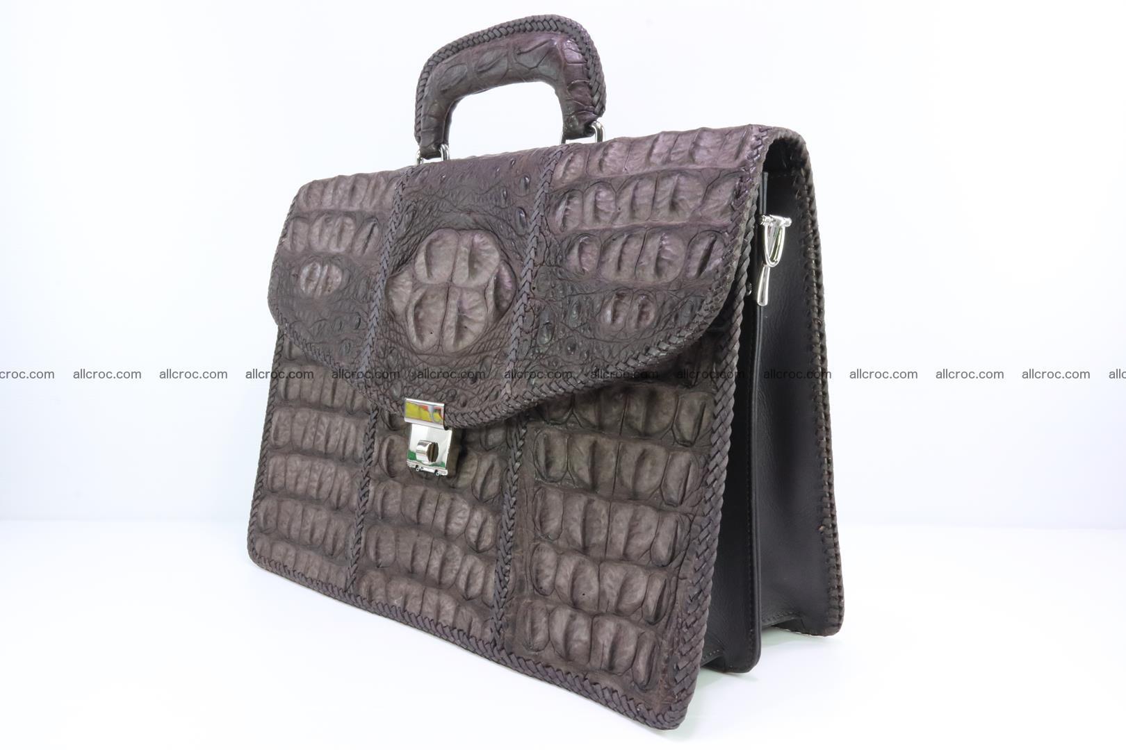 Hand braided crocodile skin briefcase 149 Foto 3
