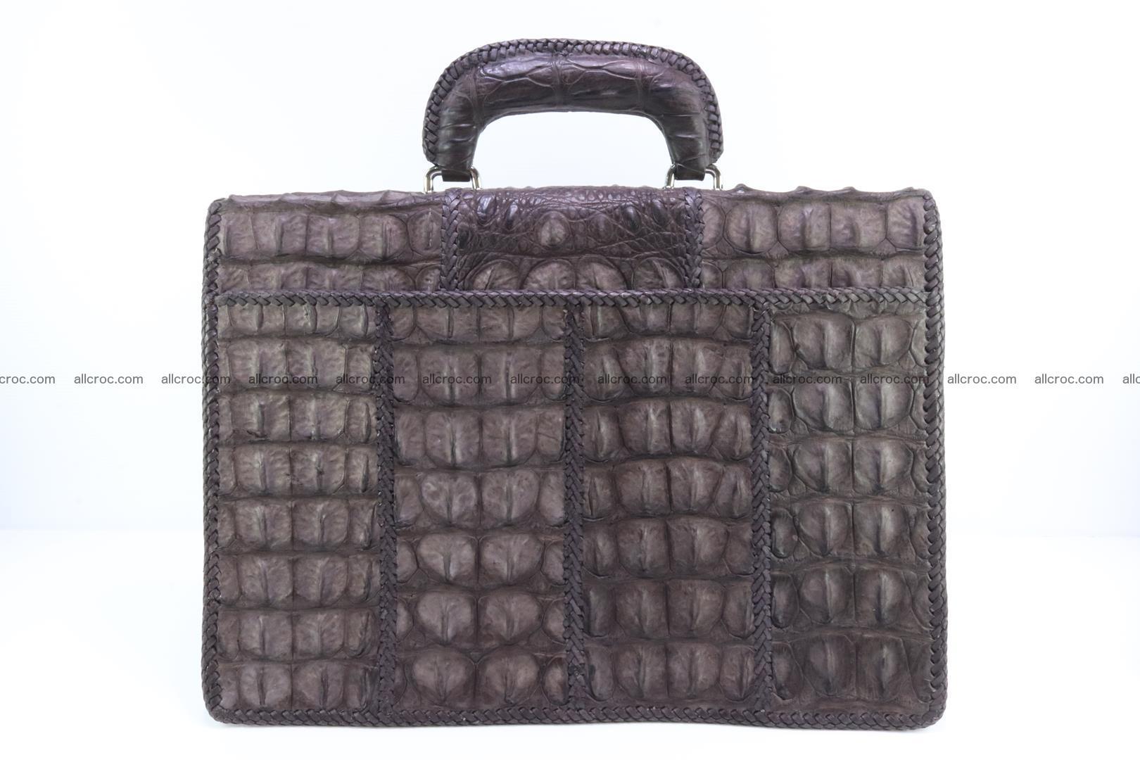 Hand braided crocodile skin briefcase 149 Foto 1