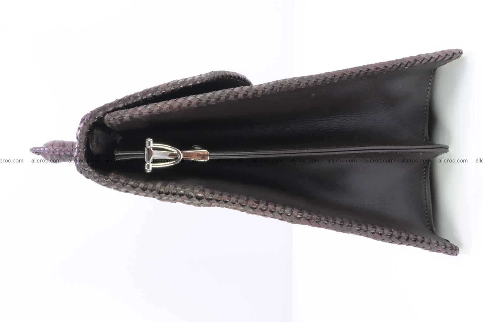 Hand braided crocodile skin briefcase 149 Foto 4