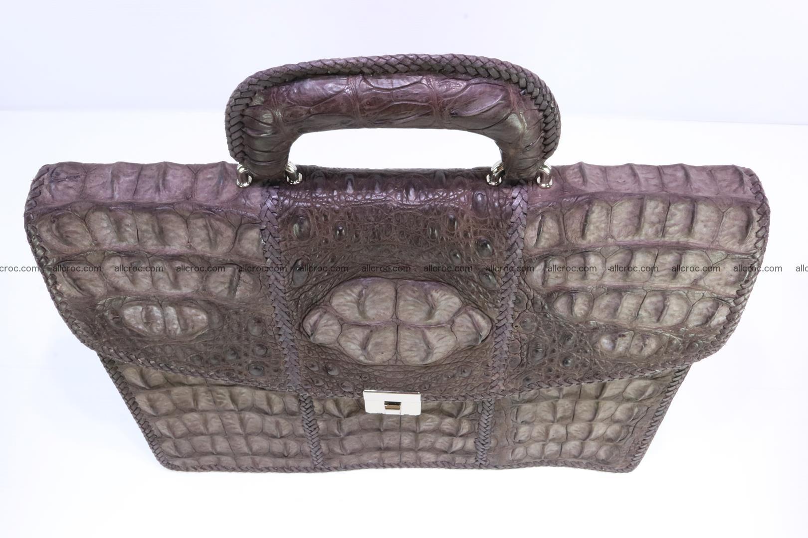 Hand braided crocodile skin briefcase 149 Foto 5