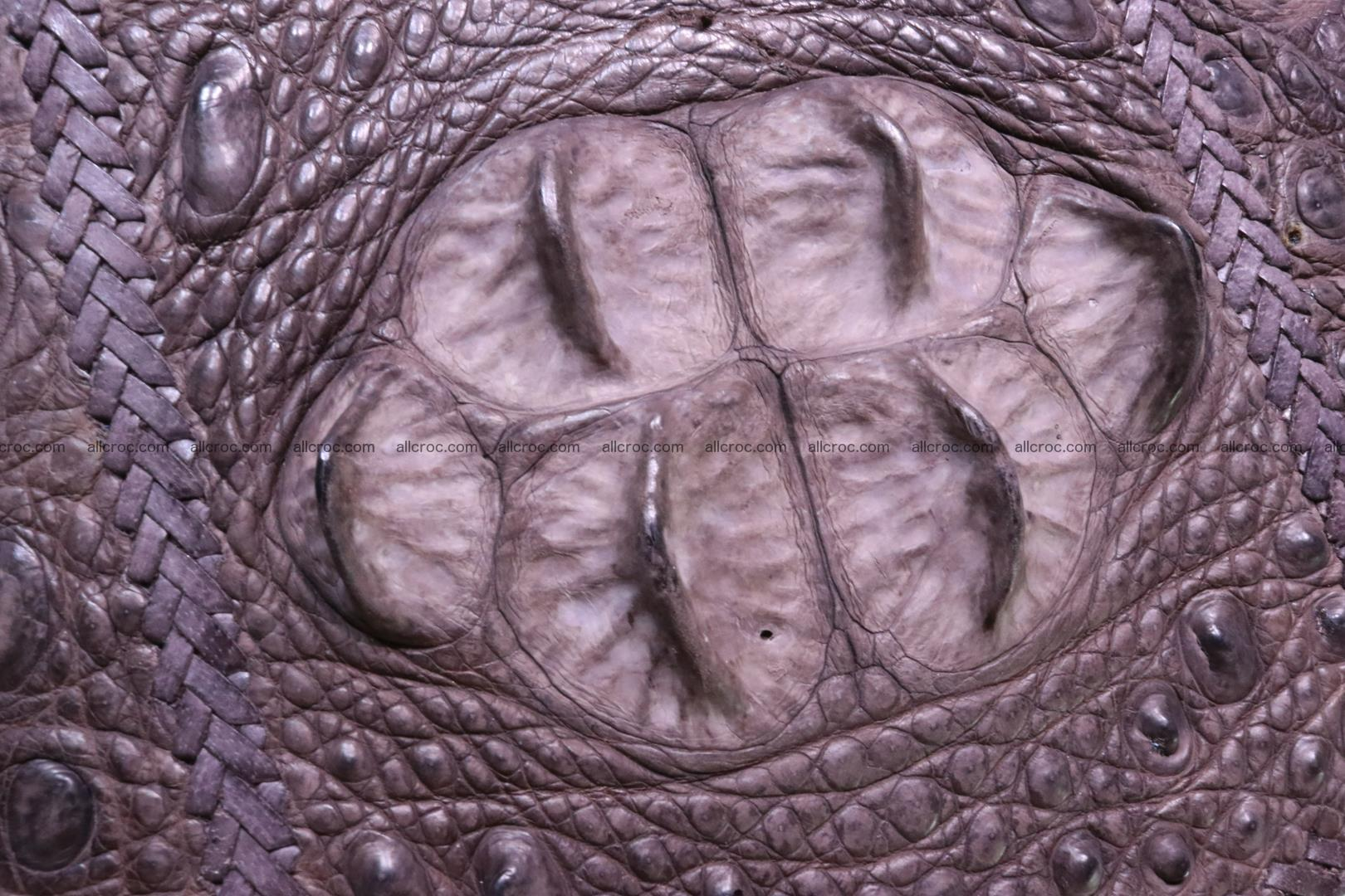 Hand braided crocodile skin briefcase 149 Foto 8