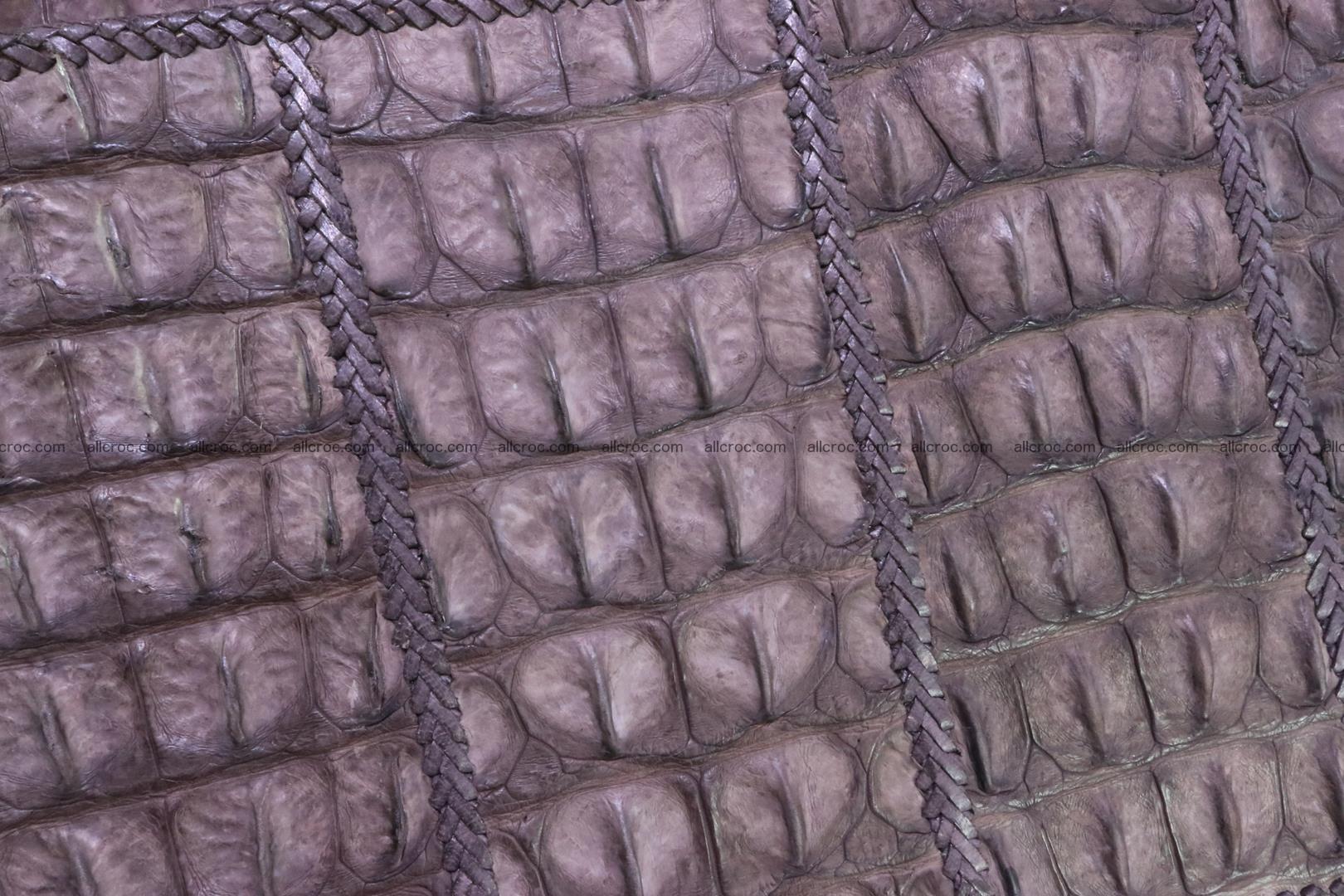Hand braided crocodile skin briefcase 149 Foto 10