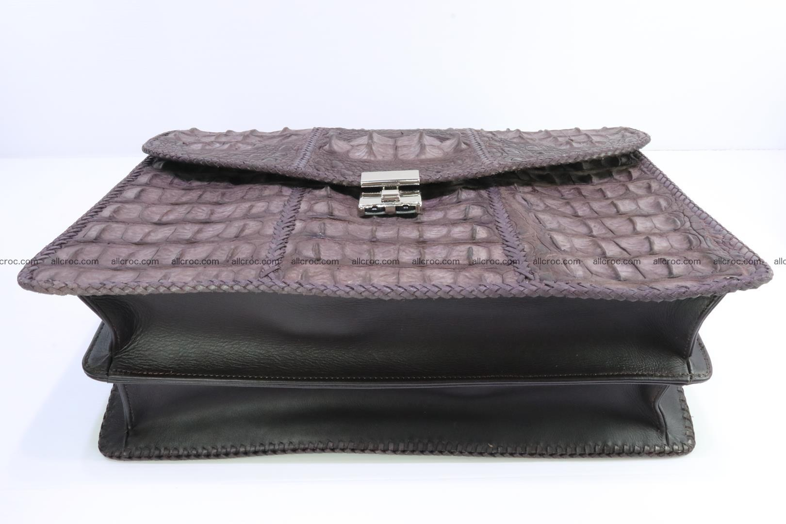 Hand braided crocodile skin briefcase 149 Foto 11