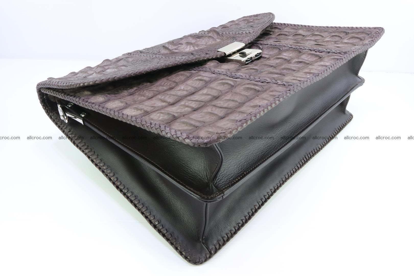 Hand braided crocodile skin briefcase 149 Foto 13