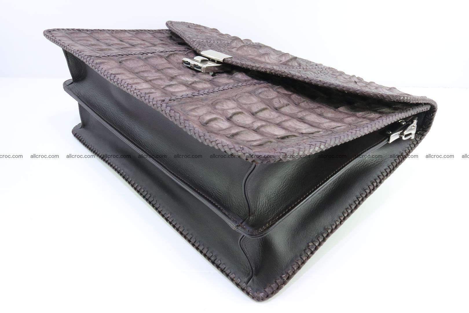 Hand braided crocodile skin briefcase 149 Foto 14