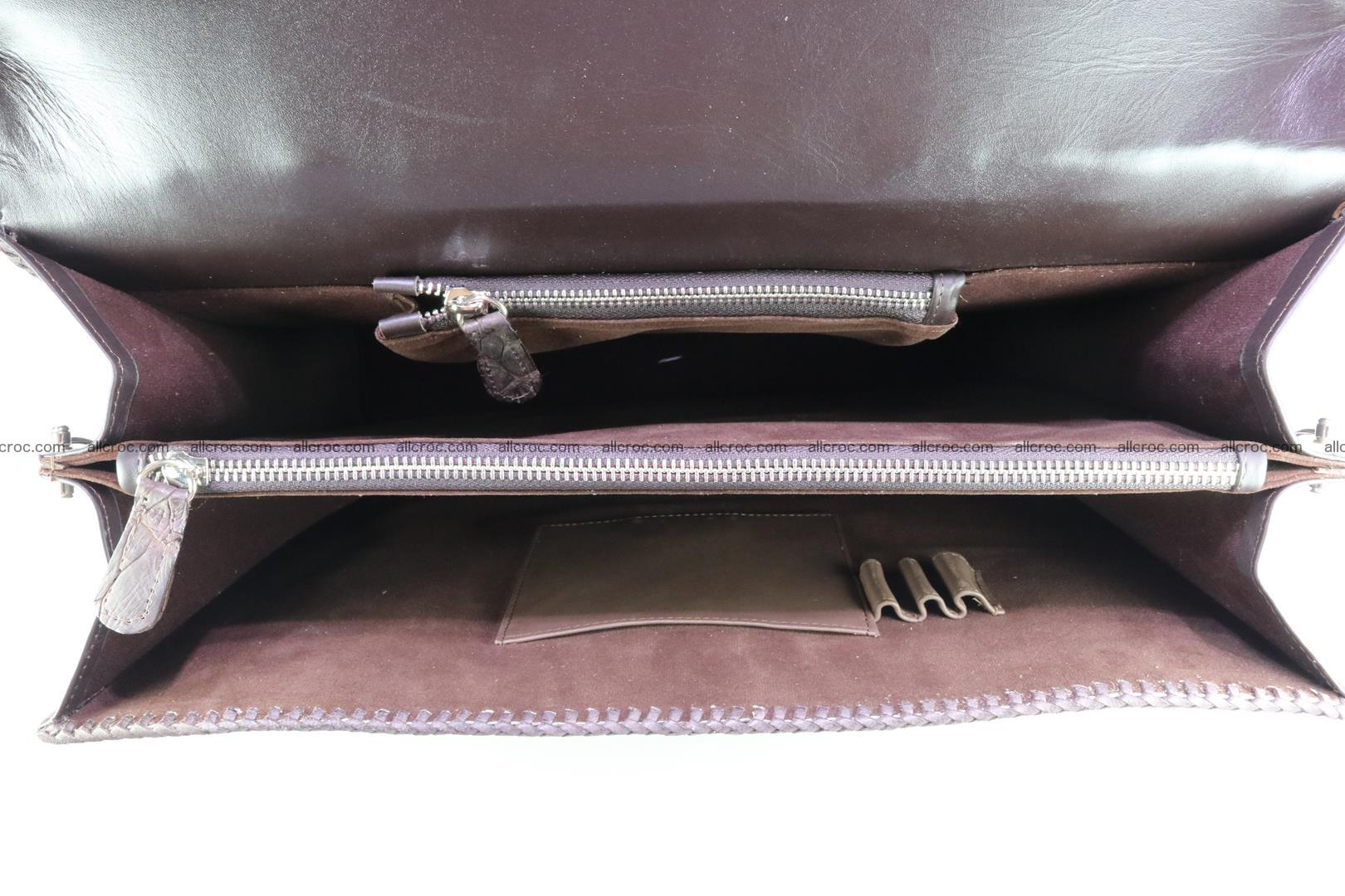 Hand braided crocodile skin briefcase 149 Foto 15