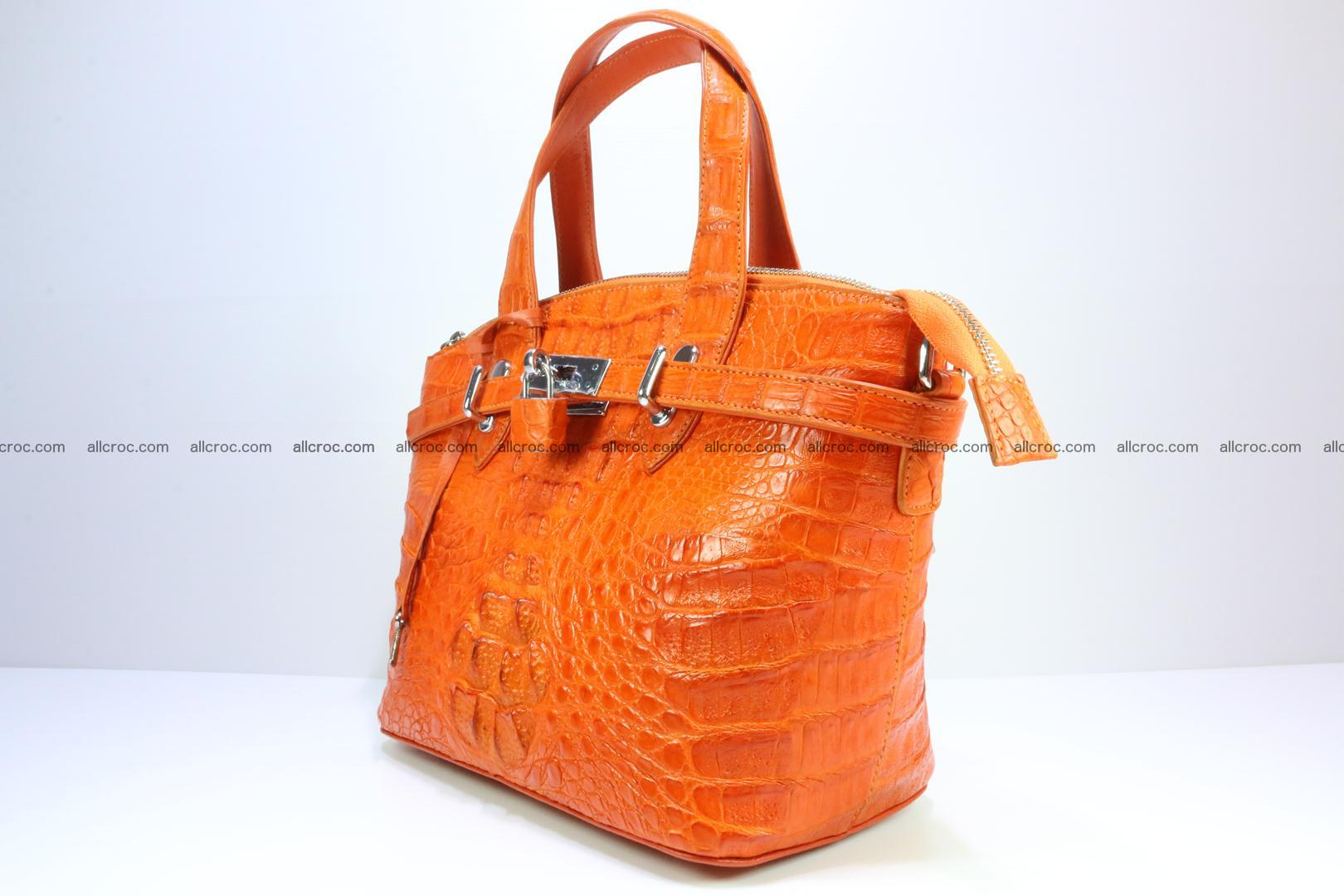 Genuine crocodile handbag for ladies 043 Foto 2
