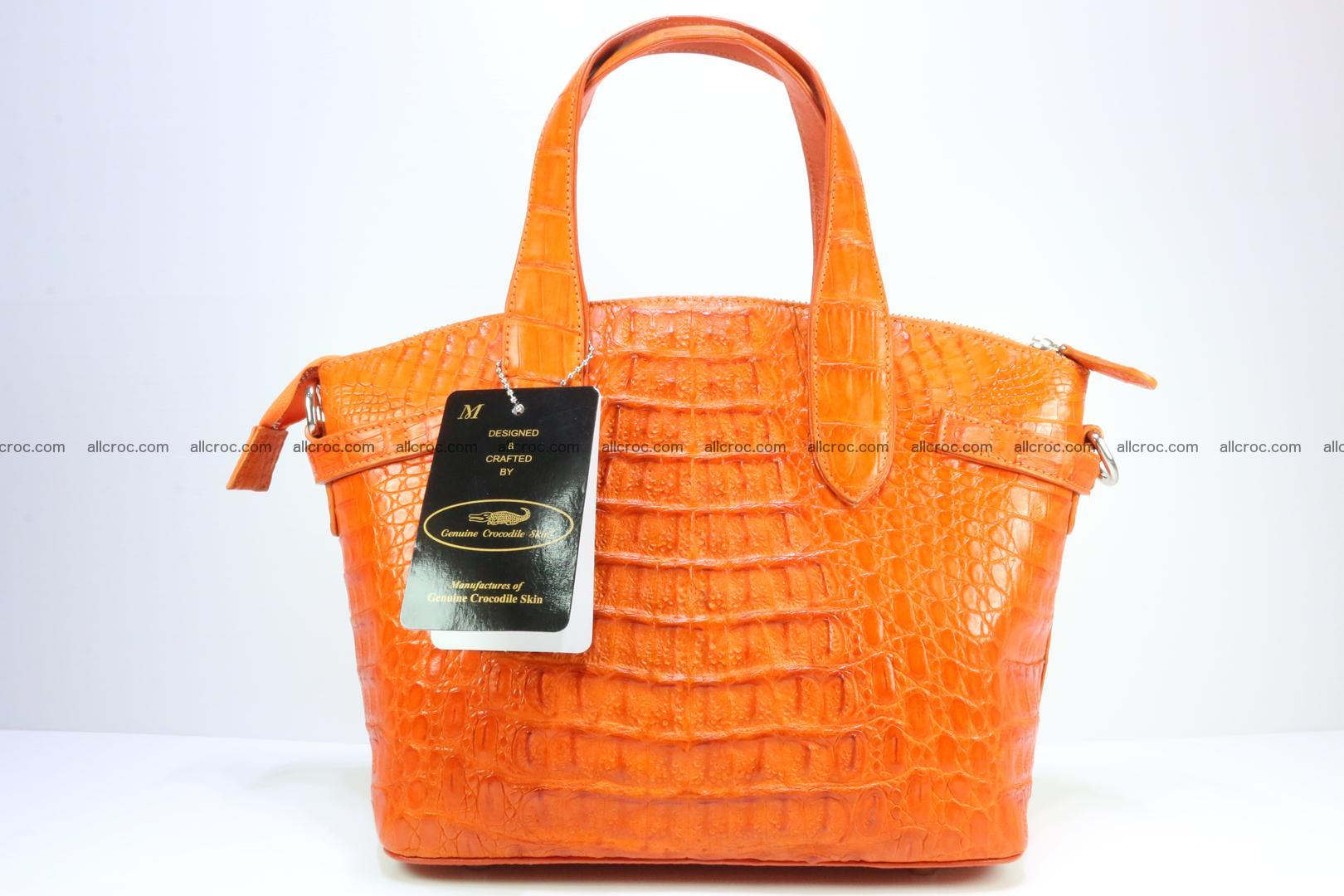 Genuine crocodile handbag for ladies 043 Foto 5
