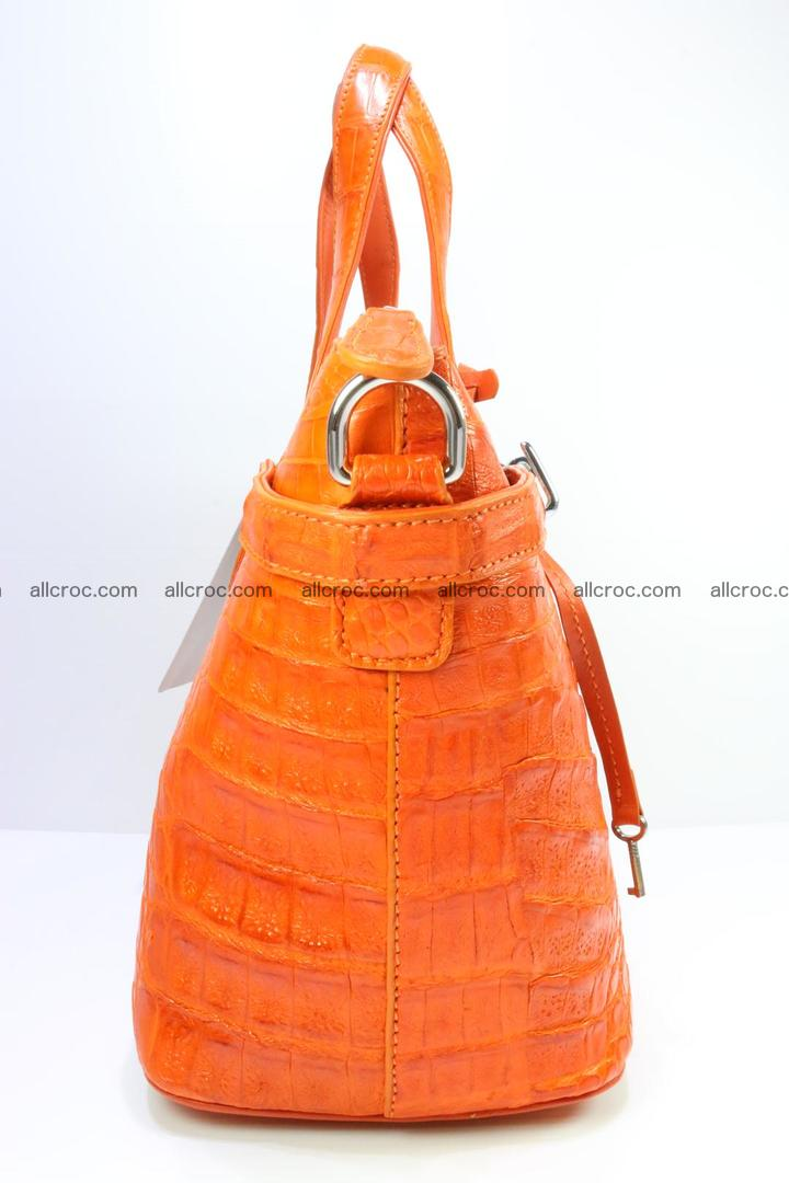 Genuine crocodile handbag for ladies 043 Foto 3