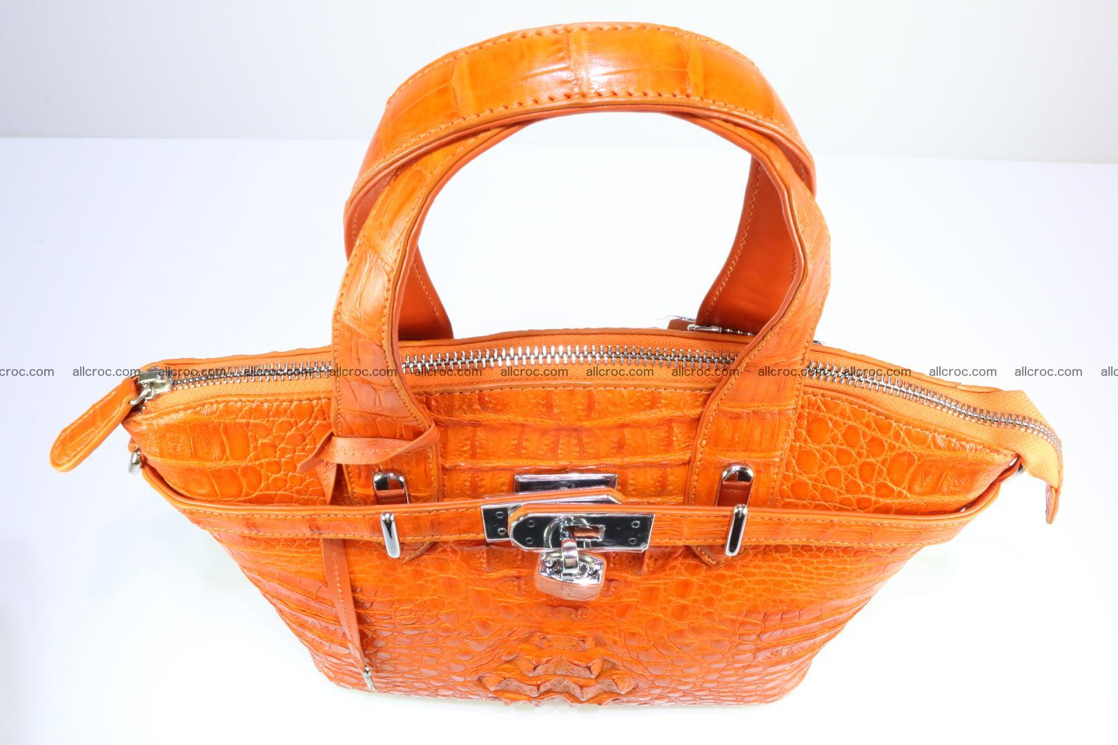 Genuine crocodile handbag for ladies 043 Foto 8