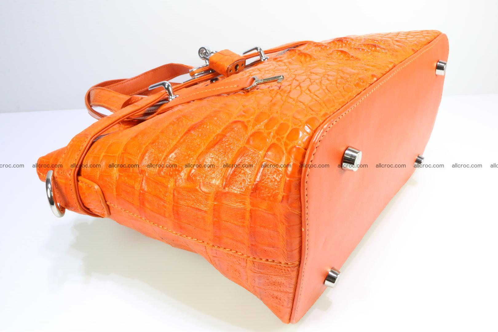 Genuine crocodile handbag for ladies 043 Foto 7