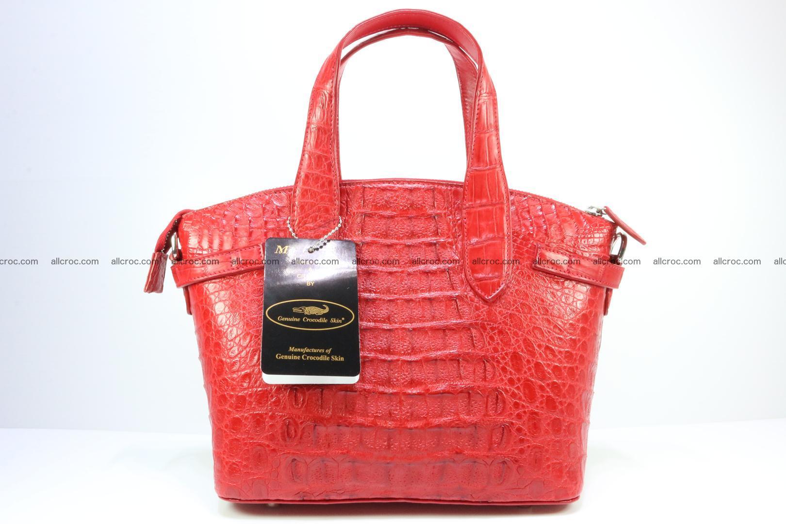 Genuine crocodile handbag for ladies 044 Foto 5
