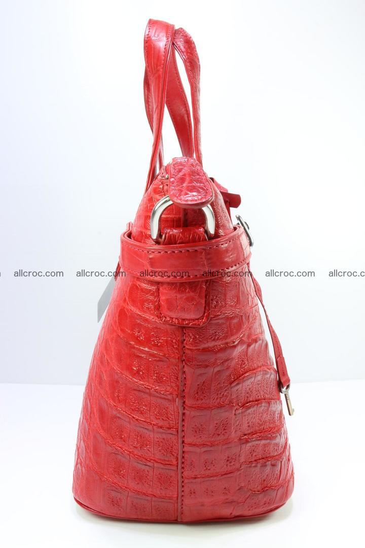 Genuine crocodile handbag for ladies 044 Foto 3