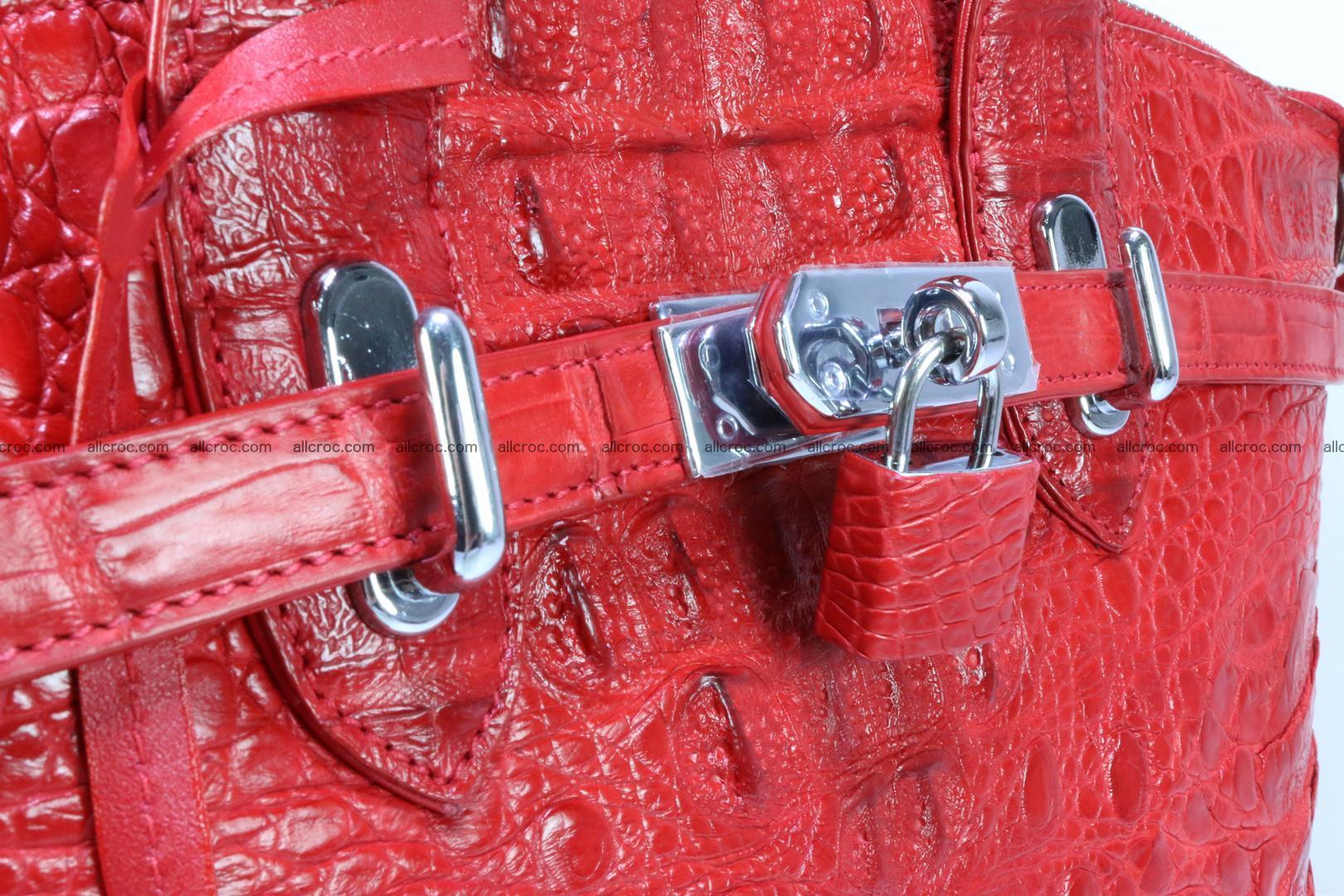 Genuine crocodile handbag for ladies 044 Foto 6