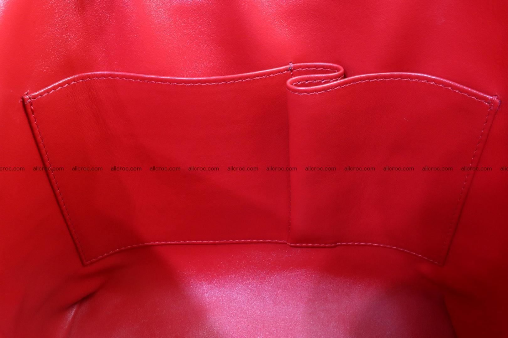 Genuine crocodile handbag for ladies 044 Foto 15