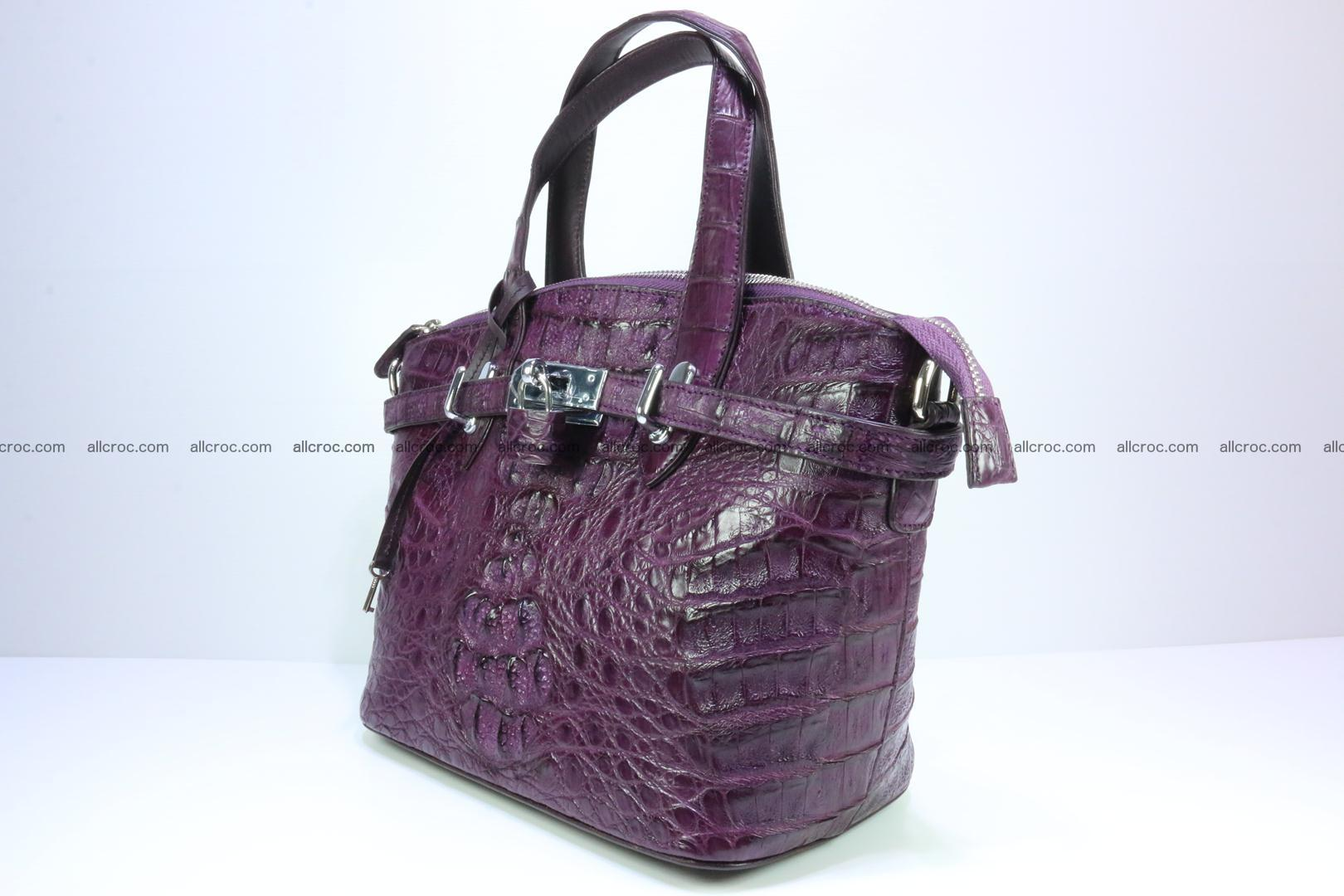Genuine crocodile handbag for ladies 045 Foto 1