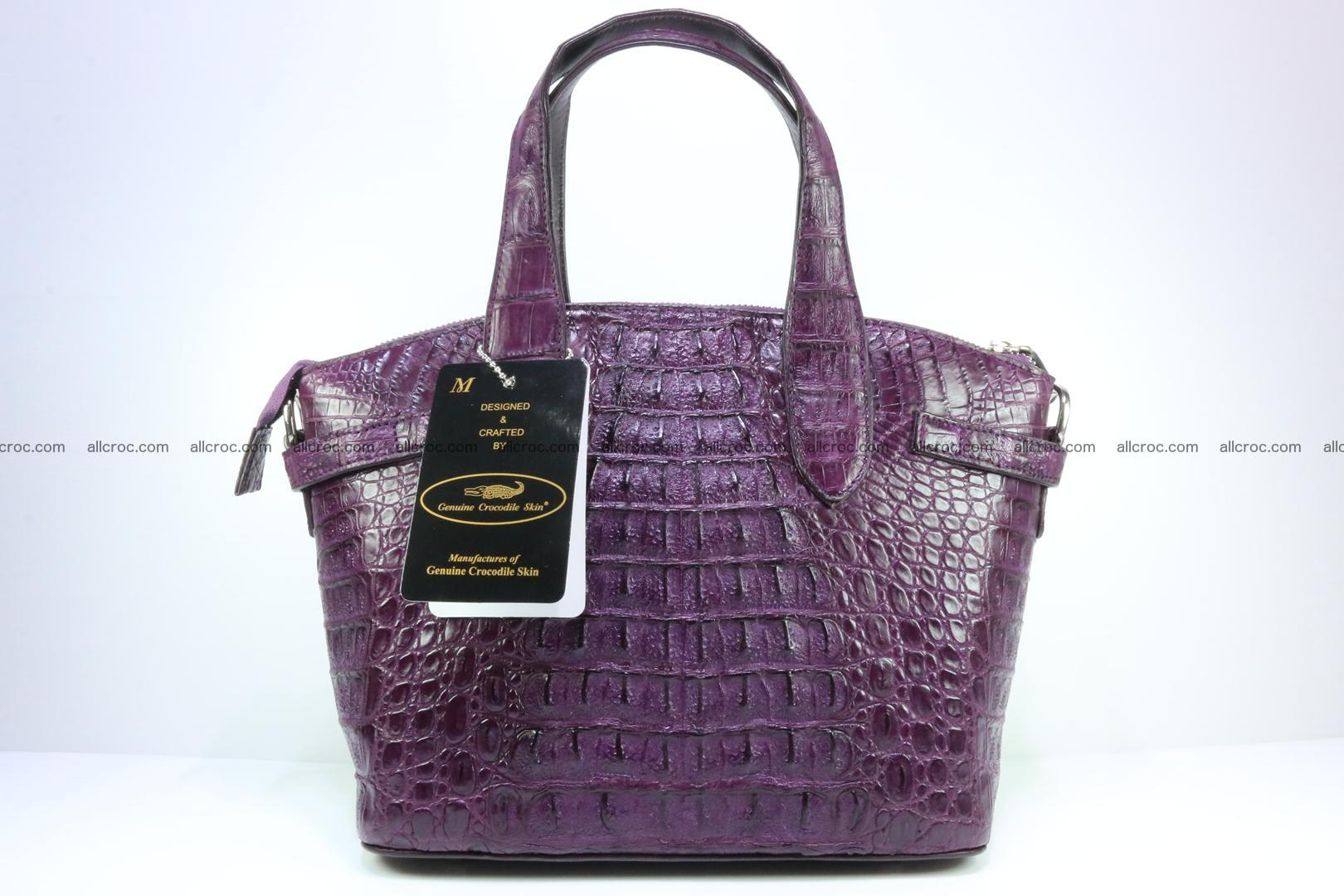 Genuine crocodile handbag for ladies 045 Foto 2