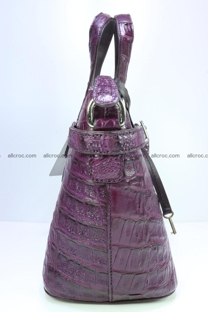 Genuine crocodile handbag for ladies 045 Foto 3