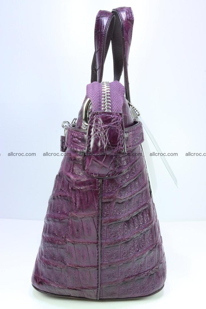 Genuine crocodile handbag for ladies 045 Foto 4