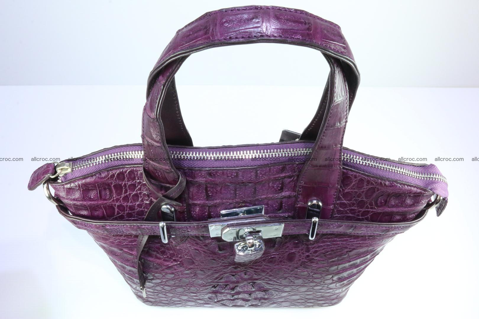 Genuine crocodile handbag for ladies 045 Foto 9