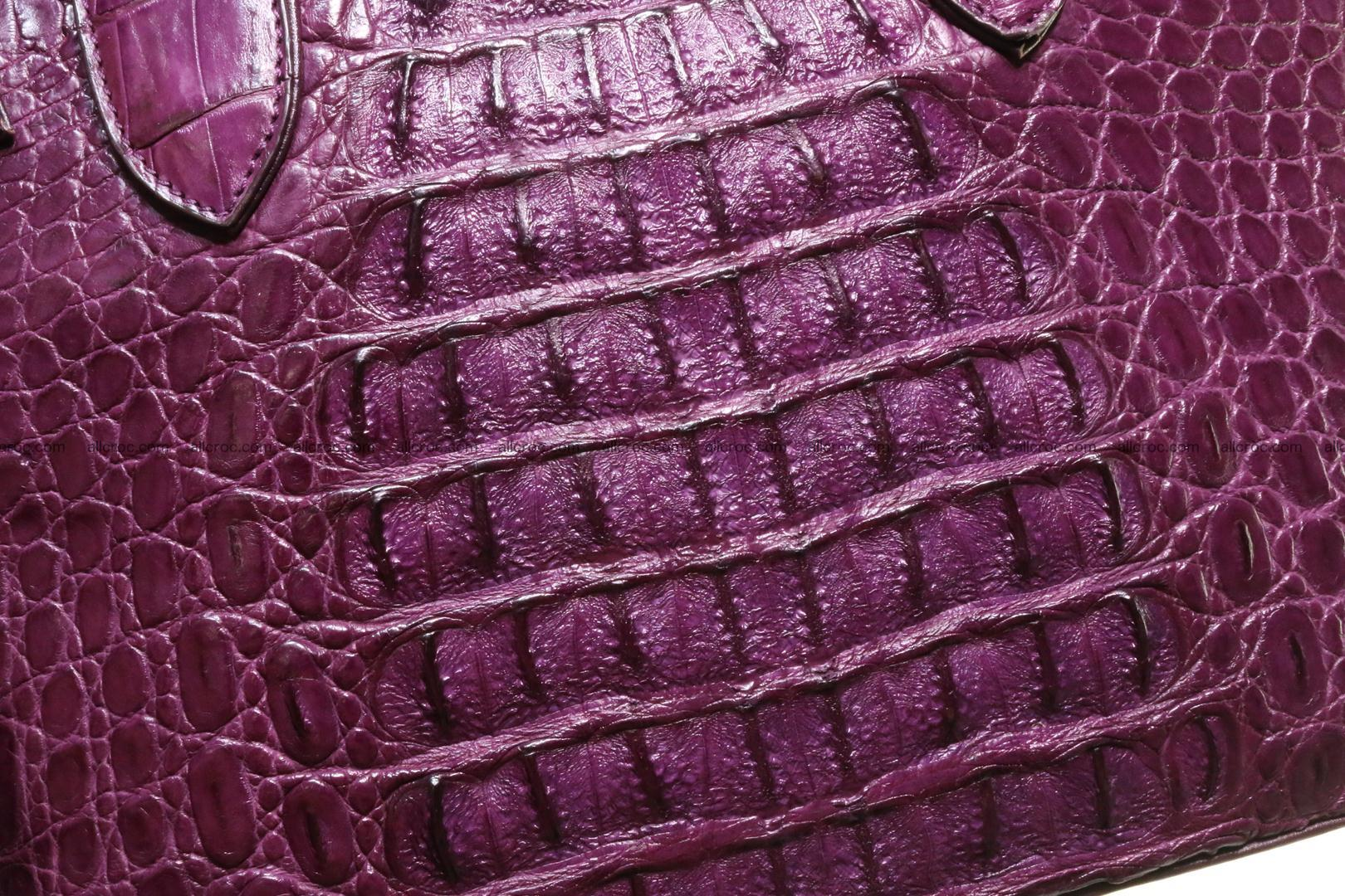 Genuine crocodile handbag for ladies 045 Foto 7