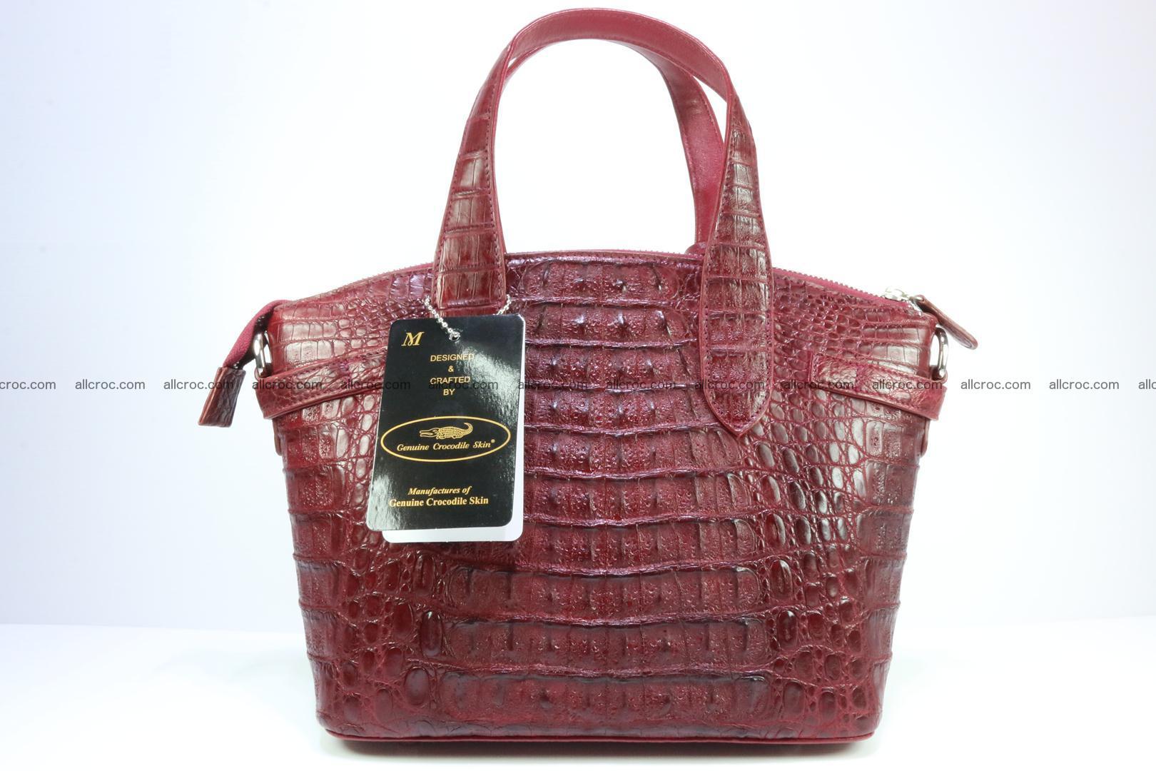 Genuine crocodile handbag for ladies 046 Foto 8