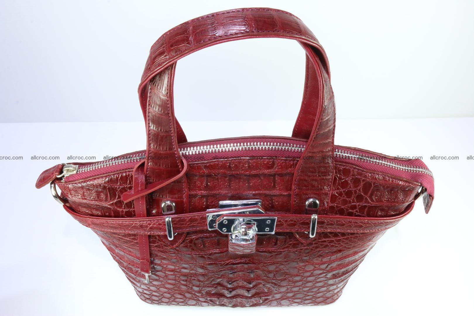Genuine crocodile handbag for ladies 046 Foto 10