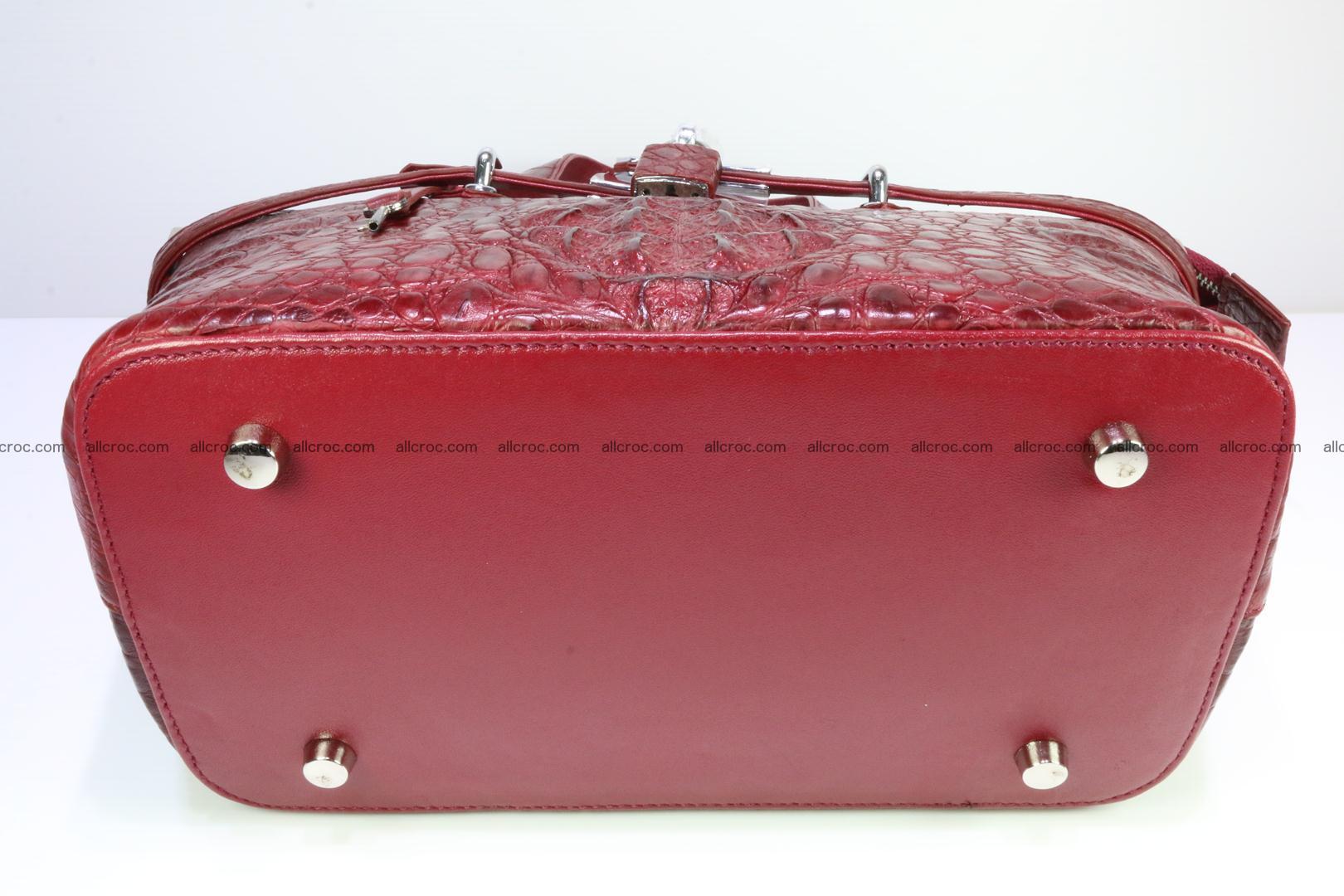 Genuine crocodile handbag for ladies 046 Foto 9