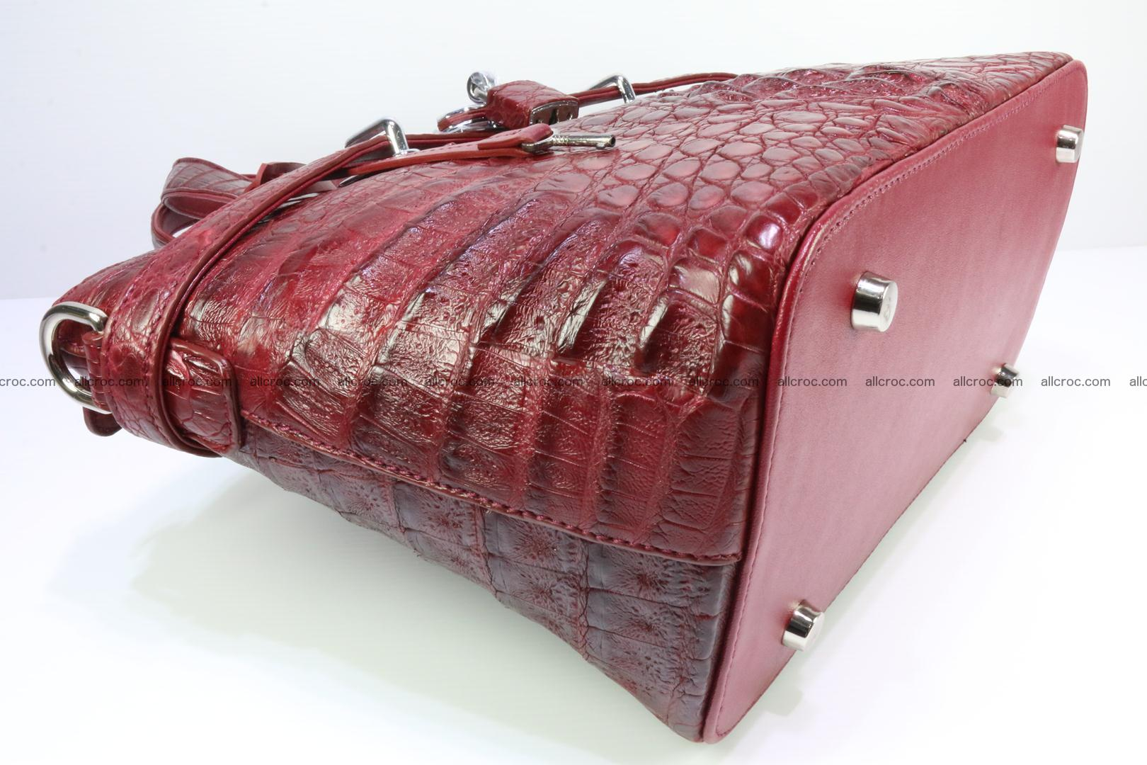 Genuine crocodile handbag for ladies 046 Foto 11