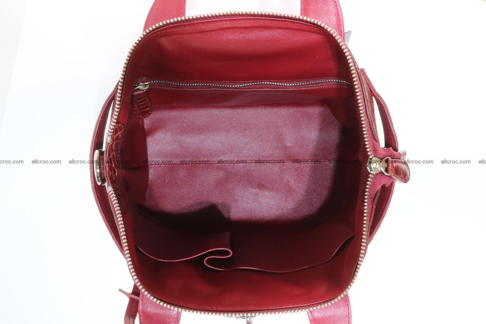 Genuine crocodile handbag for ladies 046 Foto 13