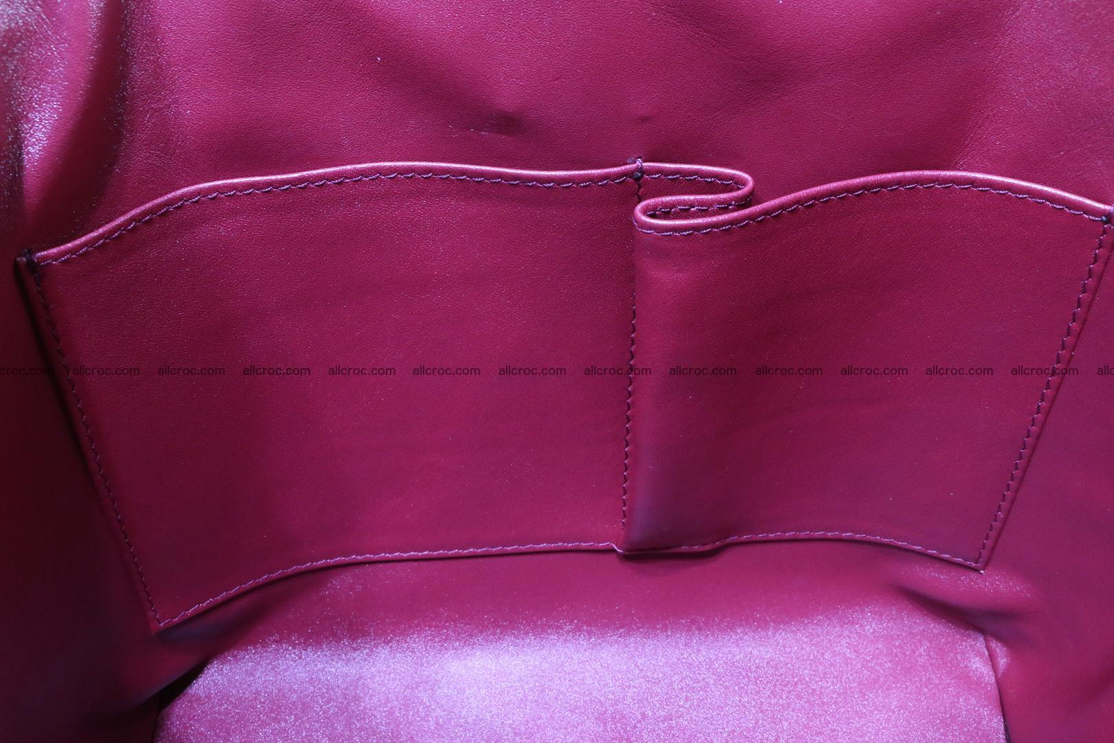 Genuine crocodile handbag for ladies 046 Foto 14
