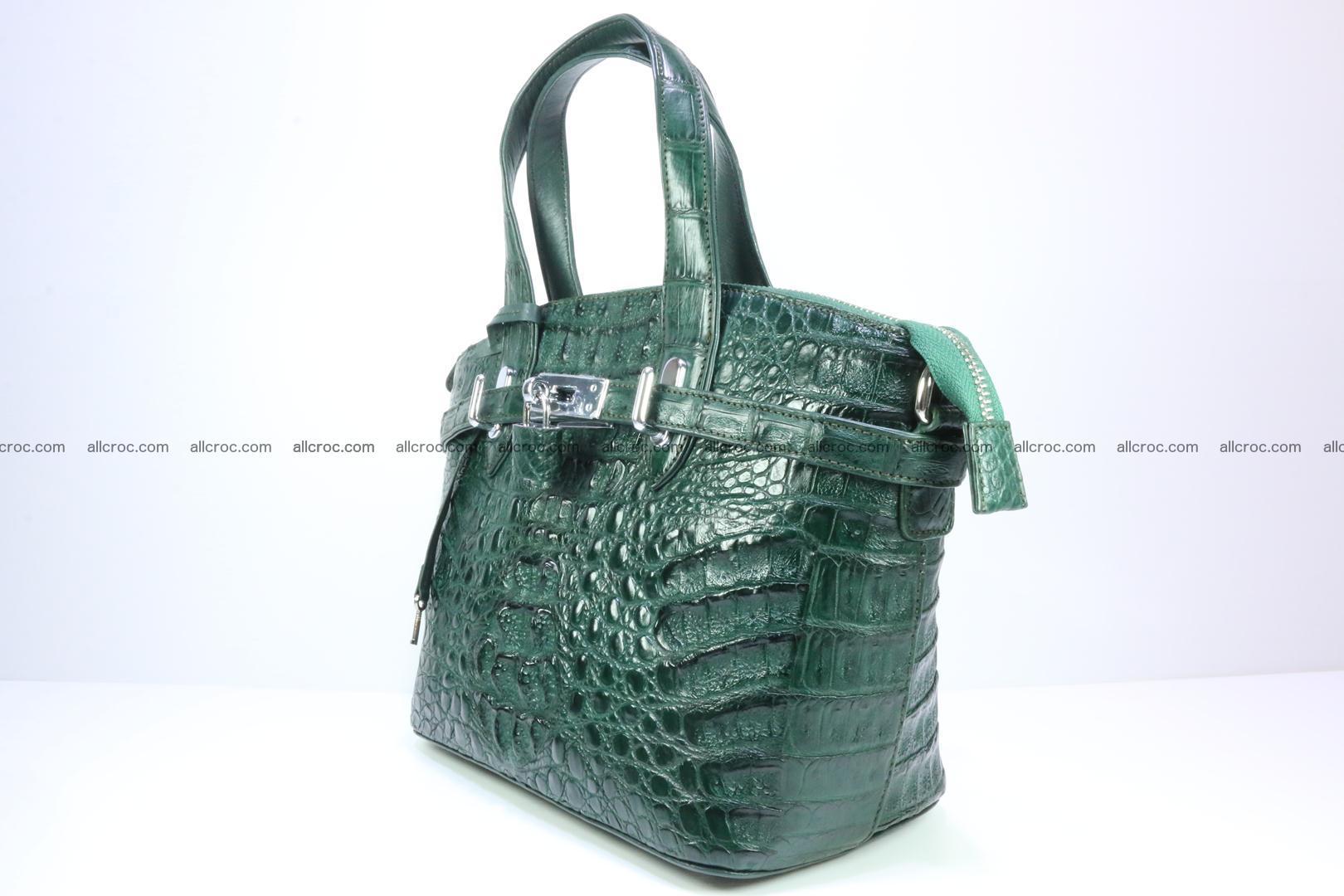 Genuine crocodile handbag for ladies 047 Foto 2
