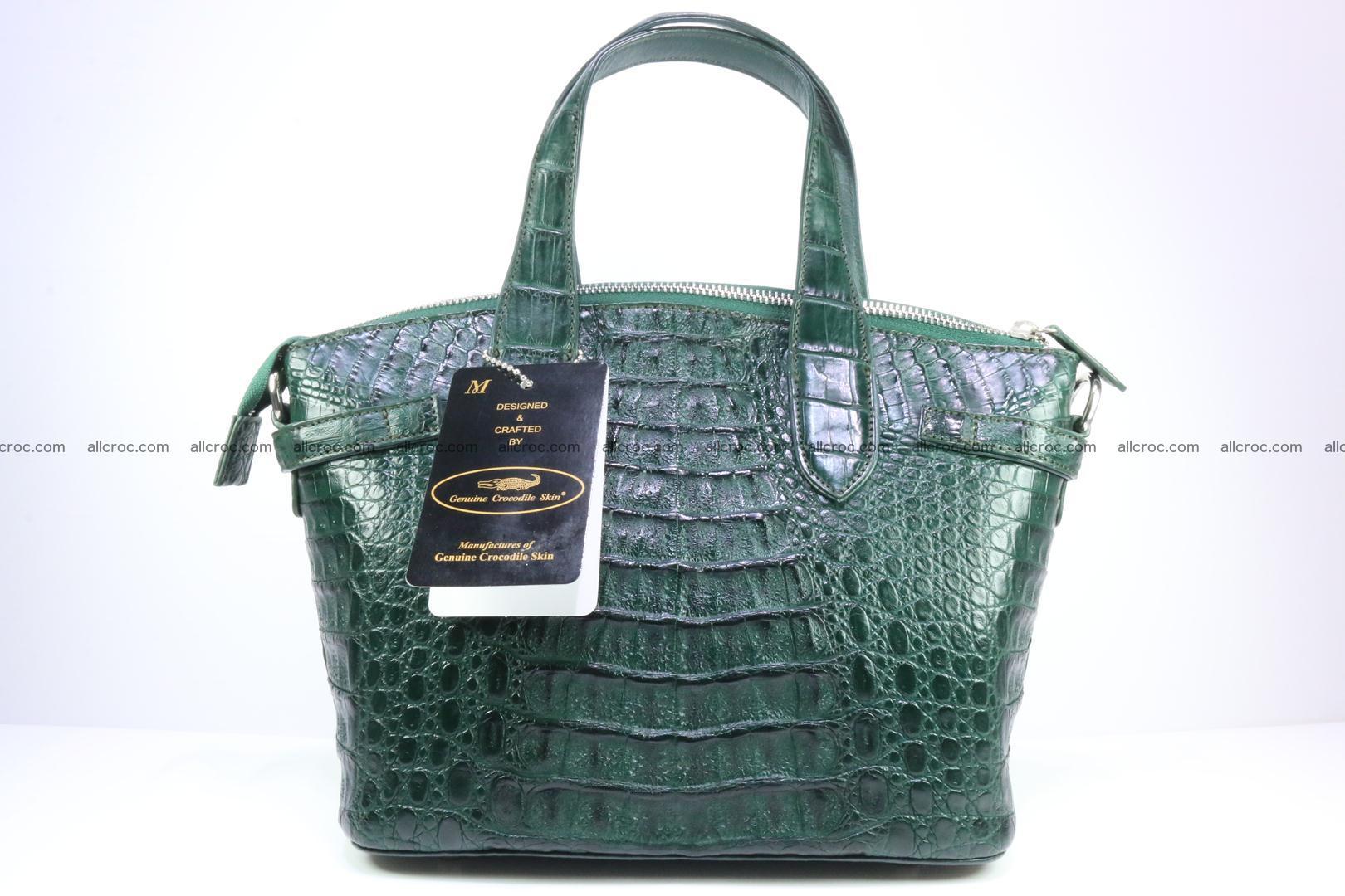Genuine crocodile handbag for ladies 047 Foto 5