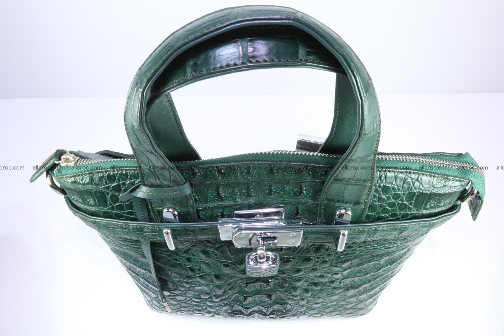 Genuine crocodile handbag for ladies 047 Foto 8