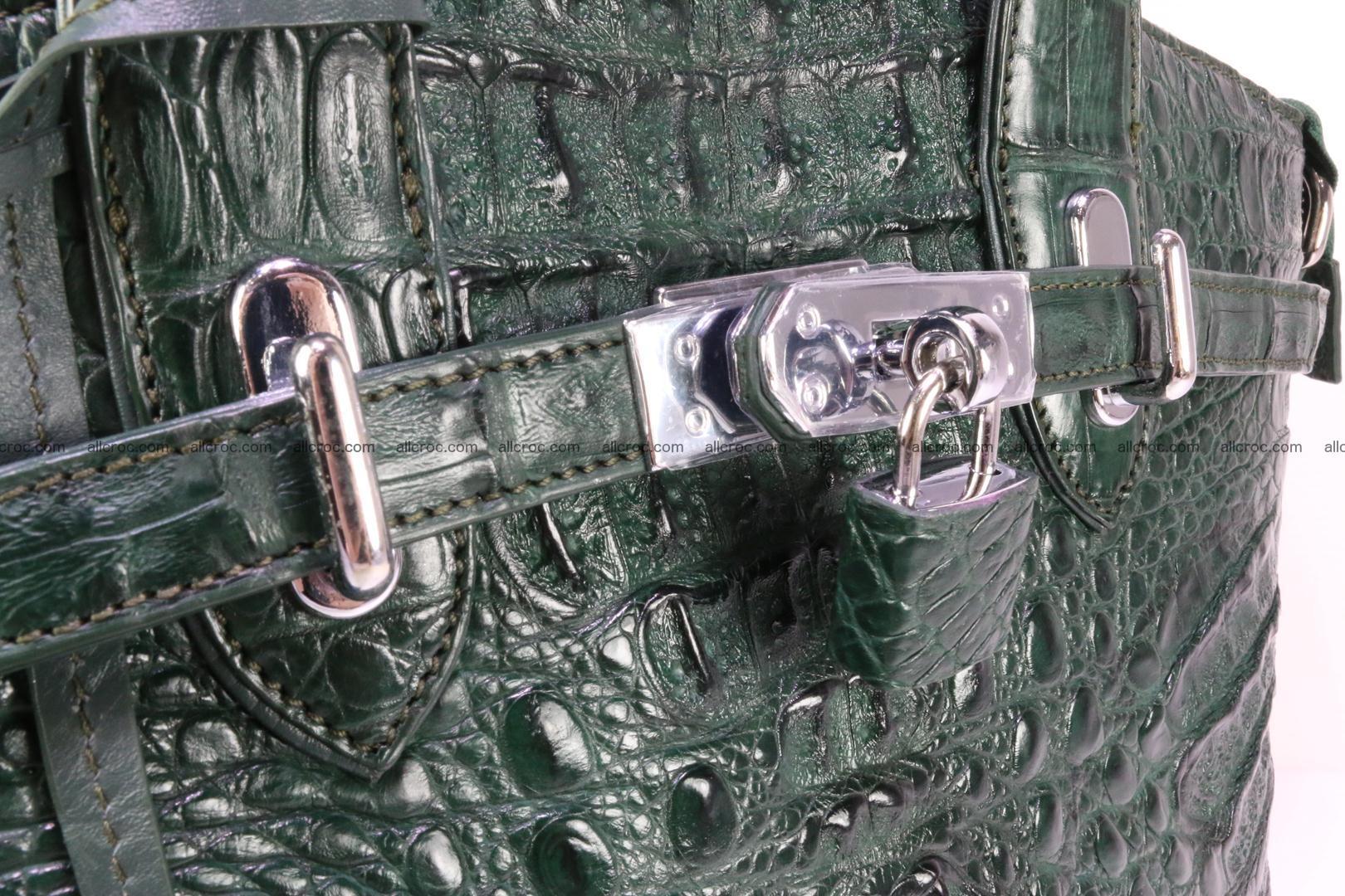 Genuine crocodile handbag for ladies 047 Foto 7