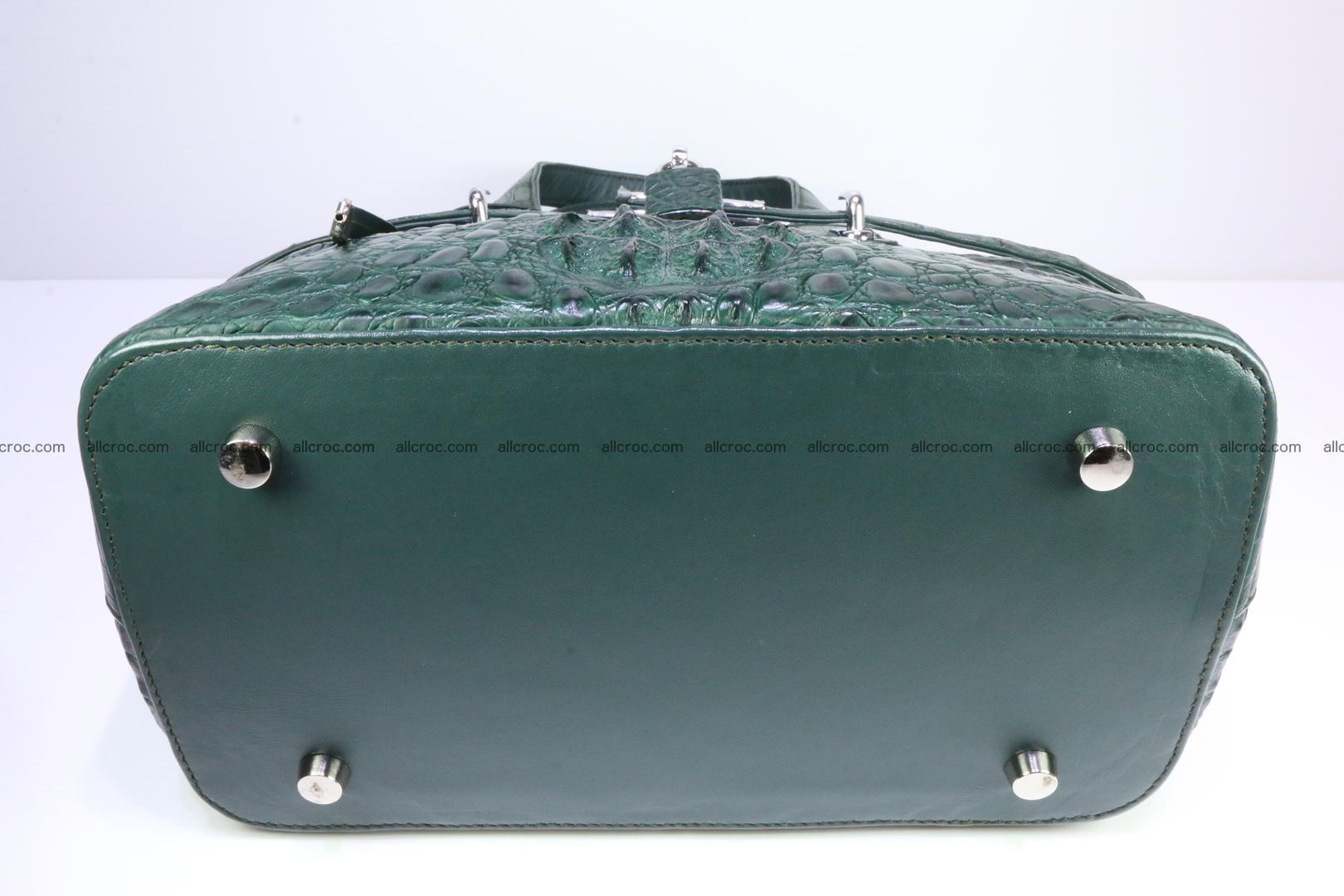 Genuine crocodile handbag for ladies 047 Foto 10